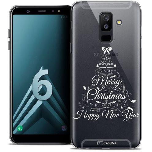 "Coque Crystal Gel Samsung Galaxy A6 PLUS 2018 (6"") Extra Fine Noël 2017 - Calligraphie"