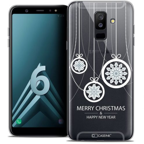 """Coque Crystal Gel Samsung Galaxy A6 PLUS 2018 (6"""") Extra Fine Noël 2017 - Christmas Balls"""