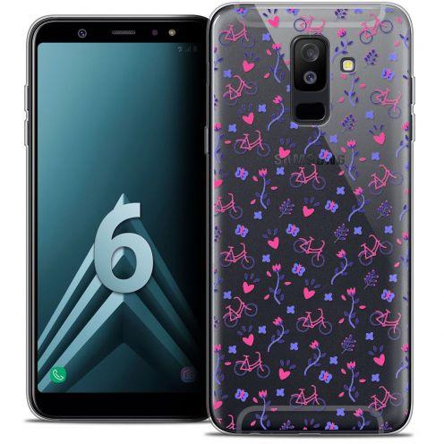 "Coque Crystal Gel Samsung Galaxy A6 PLUS 2018 (6"") Extra Fine Love - Bicycle"