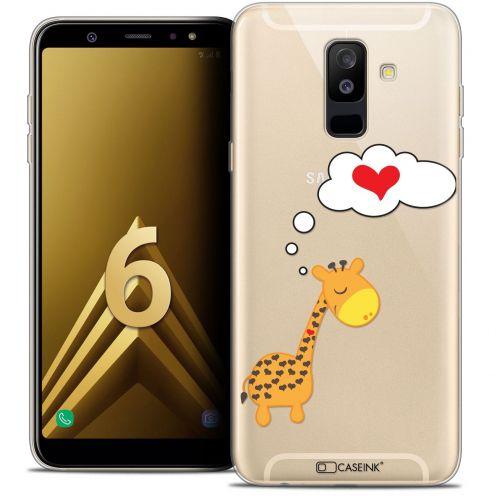 "Coque Crystal Gel Samsung Galaxy A6 PLUS 2018 (6"") Extra Fine Love - Girafe Amoureuse"