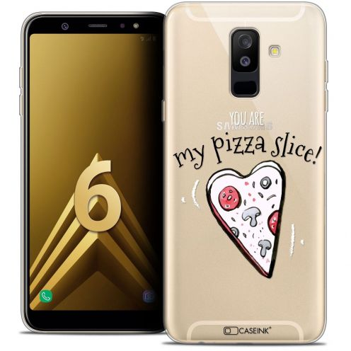 "Coque Crystal Gel Samsung Galaxy A6 PLUS 2018 (6"") Extra Fine Love - My Pizza Slice"