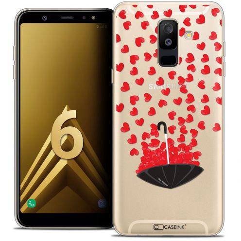 "Coque Crystal Gel Samsung Galaxy A6 PLUS 2018 (6"") Extra Fine Love - Parapluie d'Amour"