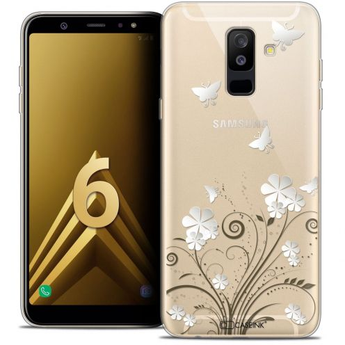 "Coque Crystal Gel Samsung Galaxy A6 PLUS 2018 (6"") Extra Fine Summer - Papillons"