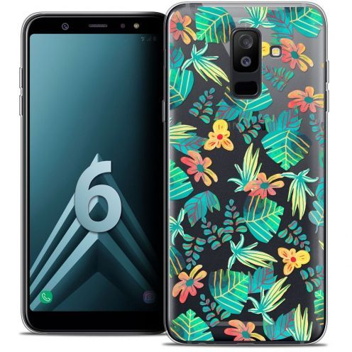 """Coque Crystal Gel Samsung Galaxy A6 PLUS 2018 (6"""") Extra Fine Spring - Tropical"""
