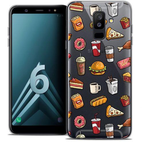 """Coque Crystal Gel Samsung Galaxy A6 PLUS 2018 (6"""") Extra Fine Foodie - Fast Food"""