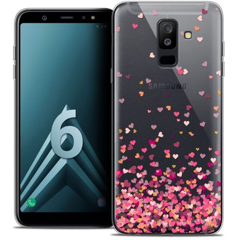 "Coque Crystal Gel Samsung Galaxy A6 PLUS 2018 (6"") Extra Fine Sweetie - Heart Flakes"