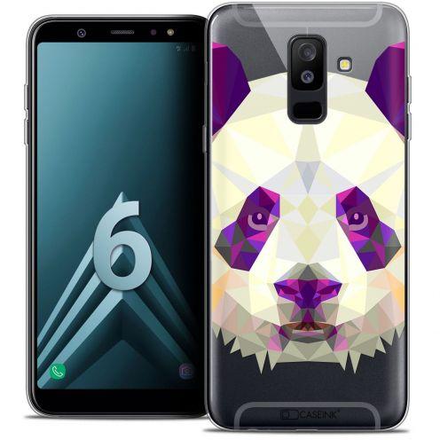 """Carcasa Crystal Gel Extra Fina Samsung Galaxy A6 PLUS 2018 (6"""") Polygon Animals Panda"""