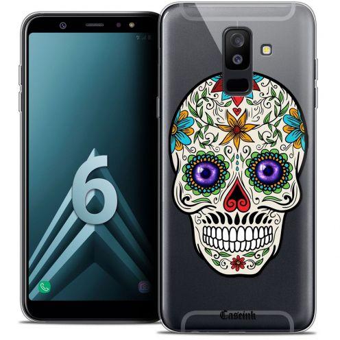 """Carcasa Crystal Gel Extra Fina Samsung Galaxy A6 PLUS 2018 (6"""") Skull Maria's Flower"""
