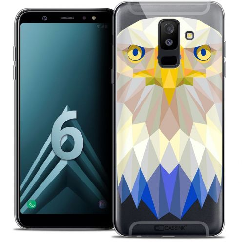 """Carcasa Crystal Gel Extra Fina Samsung Galaxy A6 PLUS 2018 (6"""") Polygon Animals Águila"""