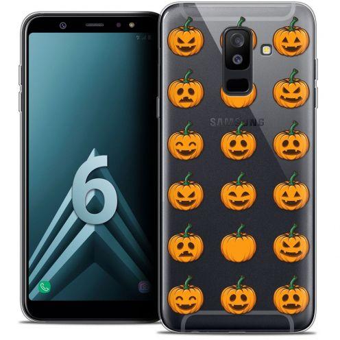 "Carcasa Crystal Gel Extra Fina Samsung Galaxy A6 PLUS 2018 (6"") Halloween Smiley Citrouille"