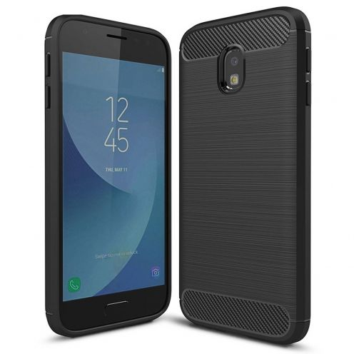 "Coque Samsung Galaxy J7 2017 J730 (5.5"") Hybrid Series Carbon Brush Noir"
