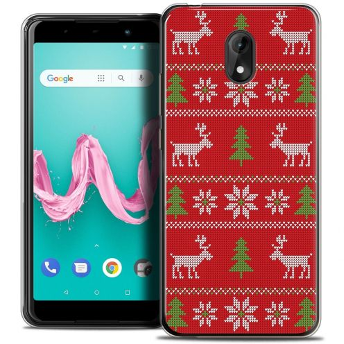 "Carcasa Crystal Gel Extra Fina Wiko Lenny 5 (5.7"") Noël 2017 Couture Rouge"