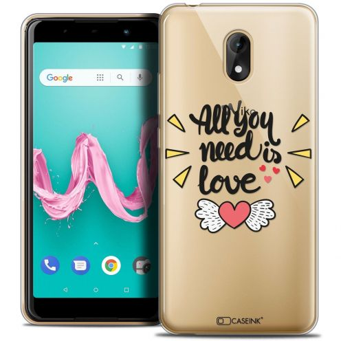 "Carcasa Crystal Gel Extra Fina Wiko Lenny 5 (5.7"") Love All U Need Is"