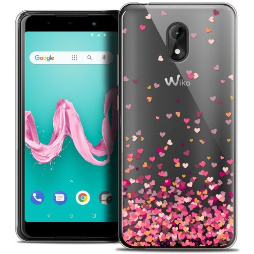 "Coque Crystal Gel Wiko Lenny 5 (5.7"") Extra Fine Sweetie - Heart Flakes"