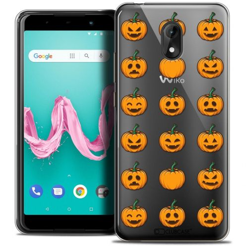 """Coque Crystal Gel Wiko Lenny 5 (5.7"""") Extra Fine Halloween - Smiley Citrouille"""