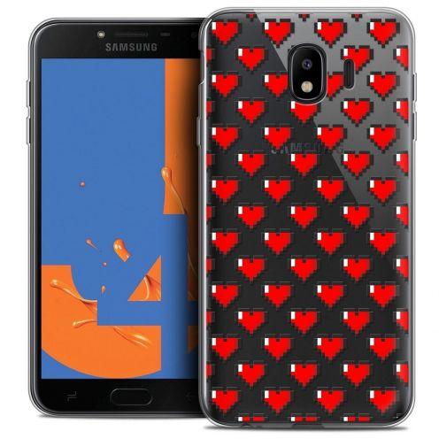 "Coque Crystal Gel Samsung Galaxy J4 2018 J400 (5.5"") Extra Fine Love - Pixel Art"