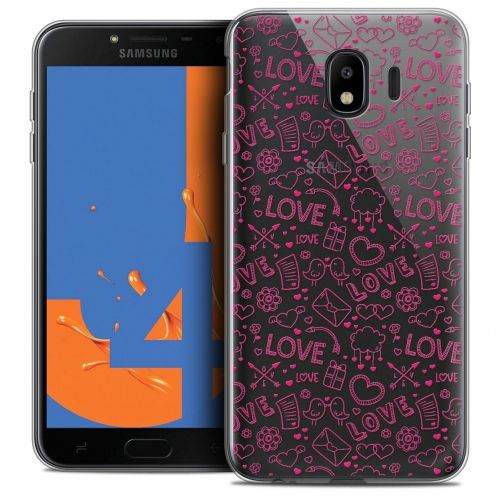 "Carcasa Crystal Gel Extra Fina Samsung Galaxy J4 2018 J400 (5.5"") Love Doodle"
