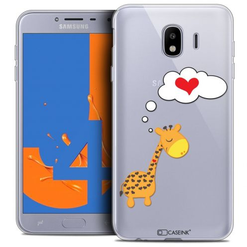 "Carcasa Crystal Gel Extra Fina Samsung Galaxy J4 2018 J400 (5.5"") Love Girafe Amoureuse"