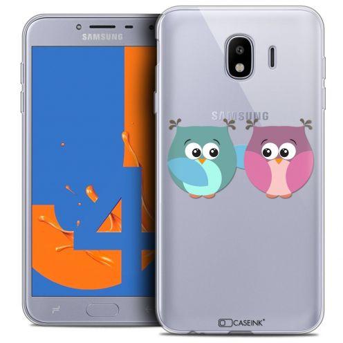 "Coque Crystal Gel Samsung Galaxy J4 2018 J400 (5.5"") Extra Fine Love - Hibous à deux"