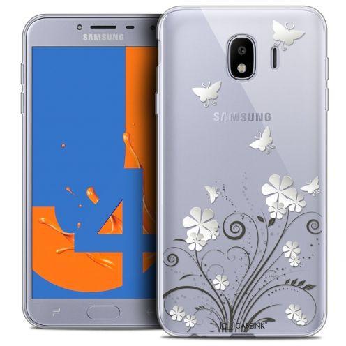 "Coque Crystal Gel Samsung Galaxy J4 2018 J400 (5.5"") Extra Fine Summer - Papillons"