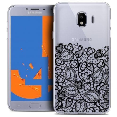 """Coque Crystal Gel Samsung Galaxy J4 2018 J400 (5.5"""") Extra Fine Spring - Bas dentelle Noir"""