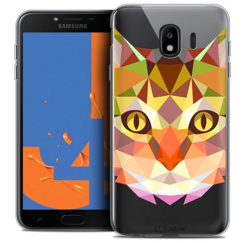 "Carcasa Crystal Gel Extra Fina Samsung Galaxy J4 2018 J400 (5.5"") Polygon Animals Gato"