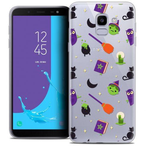 "Coque Crystal Gel Samsung Galaxy J6 2018 J600 (5.6"") Extra Fine Halloween - Witch Potter"