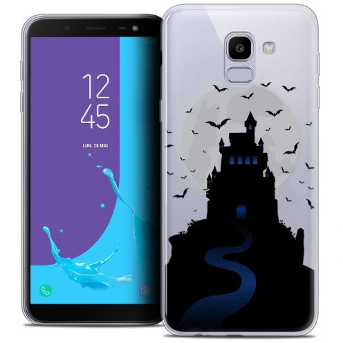 "Coque Crystal Gel Samsung Galaxy J6 2018 J600 (5.6"") Extra Fine Halloween - Castle Nightmare"