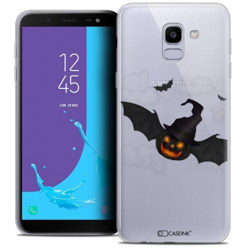 "Coque Crystal Gel Samsung Galaxy J6 2018 J600 (5.6"") Extra Fine Halloween - Chauve Citrouille"