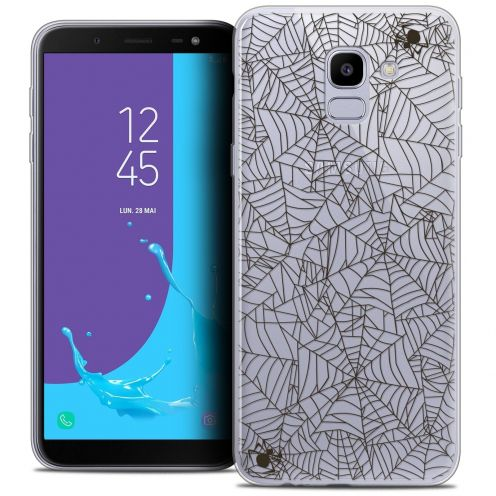 "Coque Crystal Gel Samsung Galaxy J6 2018 J600 (5.6"") Extra Fine Halloween - Spooky Spider"