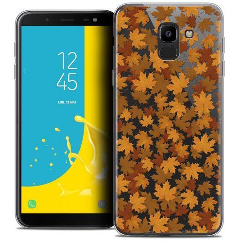 "Coque Crystal Gel Samsung Galaxy J6 2018 J600 (5.6"") Extra Fine Autumn 16 - Feuilles"