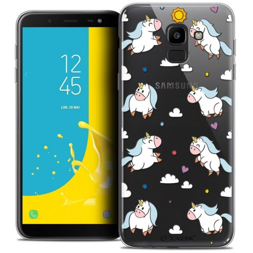 "Carcasa Crystal Gel Extra Fina Samsung Galaxy J6 2018 J600 (5.6"") Fantasia Licorne In the Sky"