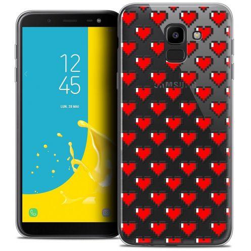 "Coque Crystal Gel Samsung Galaxy J6 2018 J600 (5.6"") Extra Fine Love - Pixel Art"