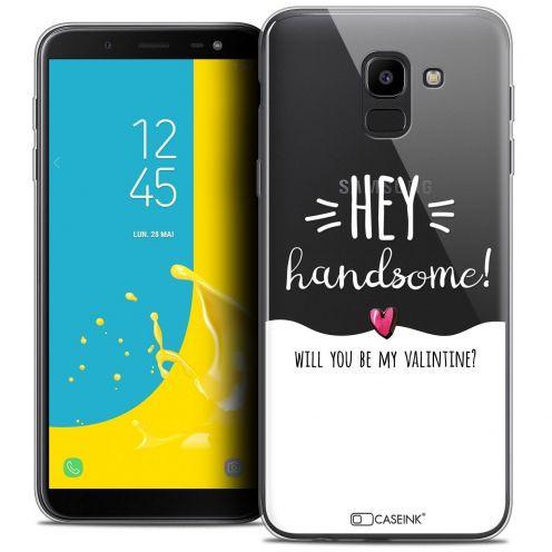 "Coque Crystal Gel Samsung Galaxy J6 2018 J600 (5.6"") Extra Fine Love - Hey Handsome !"