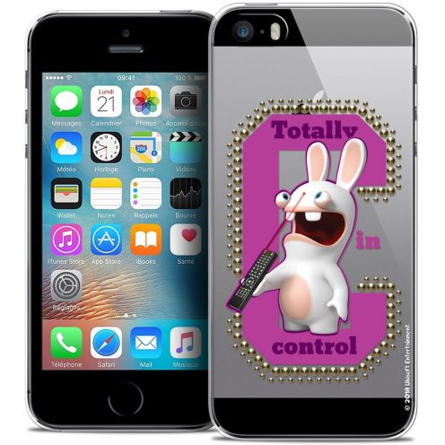 Carcasa Crystal iPhone 5/5s/SE Lapins Crétins™ In Control !