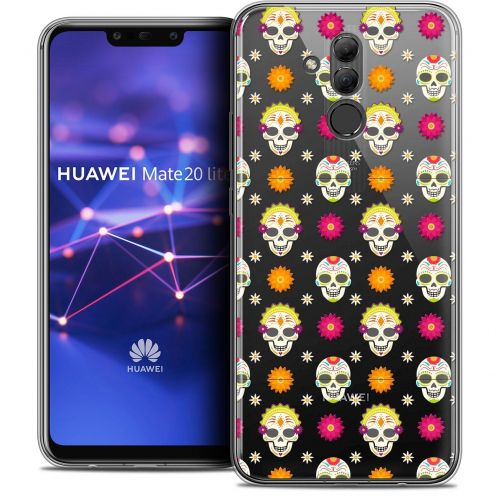 "Coque Crystal Gel Huawei Mate 20 Lite (6.3"") Extra Fine Halloween - Skull Halloween"
