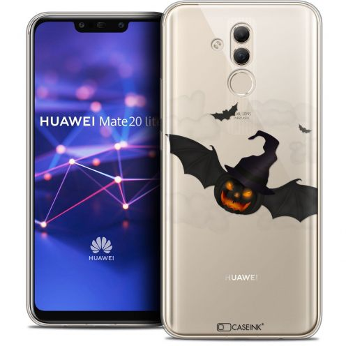 """Coque Crystal Gel Huawei Mate 20 Lite (6.3"""") Extra Fine Halloween - Chauve Citrouille"""