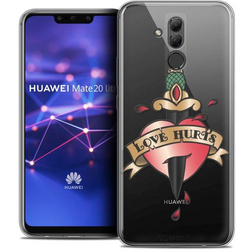 """Coque Crystal Gel Huawei Mate 20 Lite (6.3"""") Extra Fine Tatoo Lover - Love Hurts"""