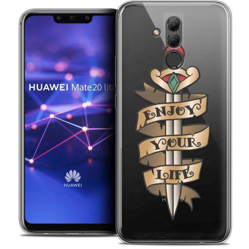 "Carcasa Crystal Gel Extra Fina Huawei Mate 20 Lite (6.3"") Tatoo Lover Enjoy Life"