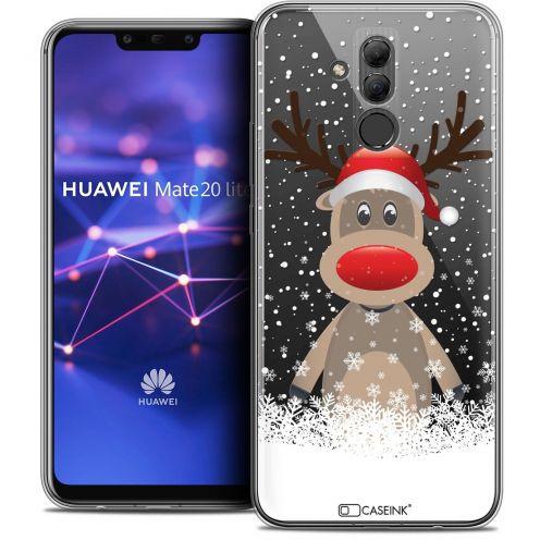 "Carcasa Crystal Gel Extra Fina Huawei Mate 20 Lite (6.3"") Noël 2017 Cerf au Bonnet"