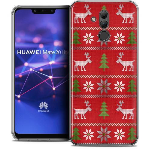 "Carcasa Crystal Gel Extra Fina Huawei Mate 20 Lite (6.3"") Noël 2017 Couture Rouge"