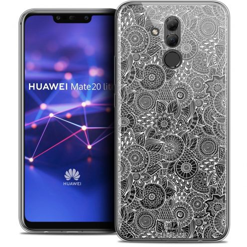"""Coque Crystal Gel Huawei Mate 20 Lite (6.3"""") Extra Fine Dentelle Florale - Blanc"""