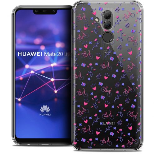 "Coque Crystal Gel Huawei Mate 20 Lite (6.3"") Extra Fine Love - Bicycle"