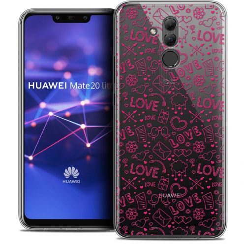 "Carcasa Crystal Gel Extra Fina Huawei Mate 20 Lite (6.3"") Love Doodle"