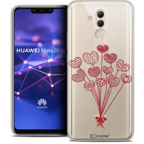 "Carcasa Crystal Gel Extra Fina Huawei Mate 20 Lite (6.3"") Love Ballons d'amour"