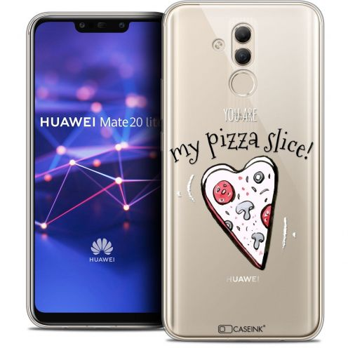 "Coque Crystal Gel Huawei Mate 20 Lite (6.3"") Extra Fine Love - My Pizza Slice"