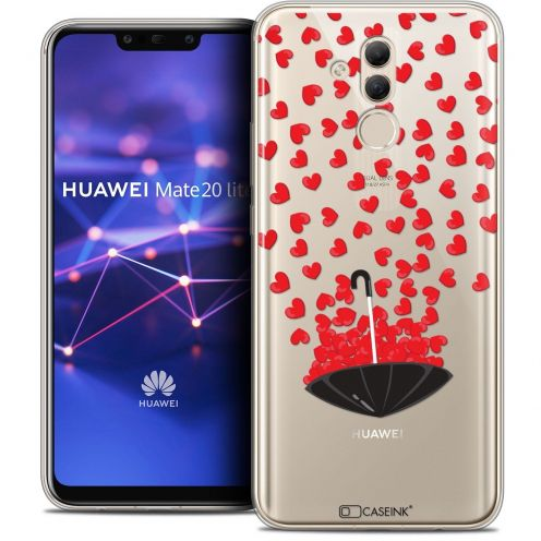 "Carcasa Crystal Gel Extra Fina Huawei Mate 20 Lite (6.3"") Love Parapluie d'Amour"
