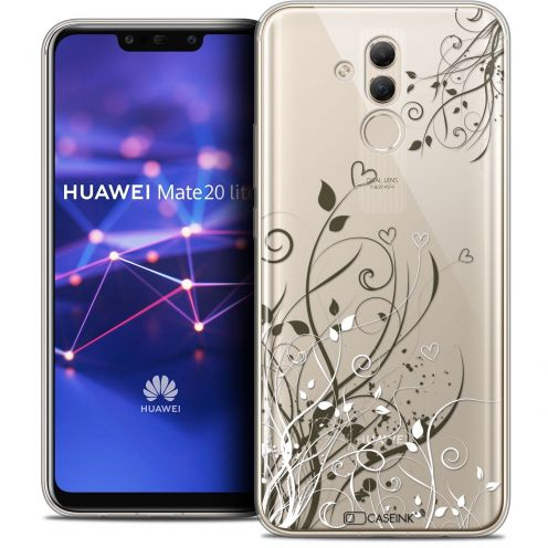 "Coque Crystal Gel Huawei Mate 20 Lite (6.3"") Extra Fine Love - Hearts Flowers"