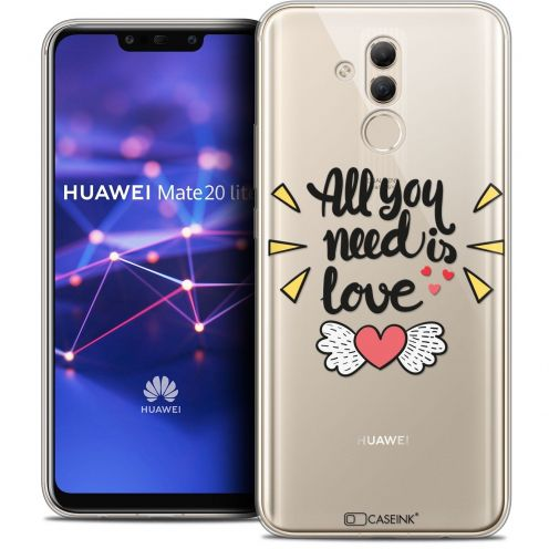 "Carcasa Crystal Gel Extra Fina Huawei Mate 20 Lite (6.3"") Love All U Need Is"