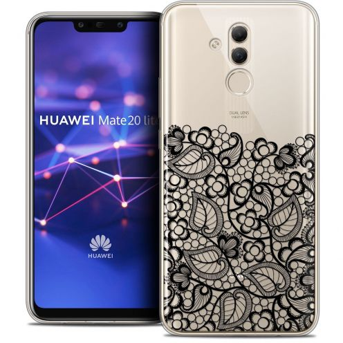 "Carcasa Crystal Gel Extra Fina Huawei Mate 20 Lite (6.3"") Spring Bas dentelle Noir"